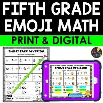 Fifth Grade Emoji Math
