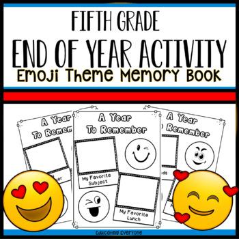 End Of Year Emoji Memory Book - Fifth Grade