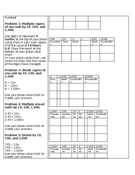 Fifth Grade Engage New York- Module One Lesson Note Taking Sheet