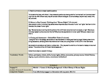 EngageNY Module 1 Unit 1 Lesson Plans