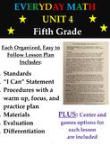 Fifth Grade Everyday Mathematics Unit 4 Lesson Plans, Cent