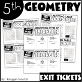 Fifth Grade Exit Tickets Geometry