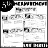 Fifth Grade Exit Tickets Measurement