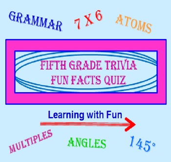 Fifth Grade FREE PowerPoint Trivia Fun Facts Quiz PREVIEW