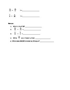 Fifth Grade Factors Test