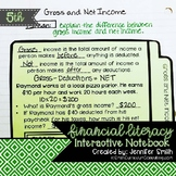 Fifth Grade Financial Literacy Interactive Notebook Aligne