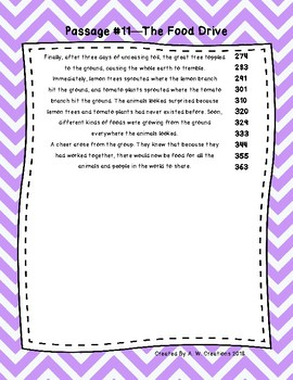 Fifth Grade Fluency and Comprehension Passages Set B (Passages 11-20) DORF