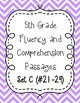 Fifth Grade Fluency and Comprehension Passages Set C (Passages 21-29) DORF