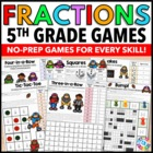5th Grade Fraction Activities: 14 5th Grade Fraction Games