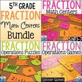 Fifth Grade Fractions Math Centers Bundle