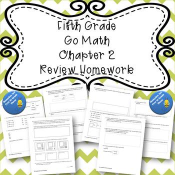 Fifth Grade Go Math Ch 2 Review Homework