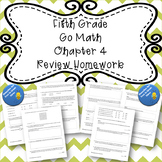 Fifth Grade Go Math Chapter 4 Review Homework