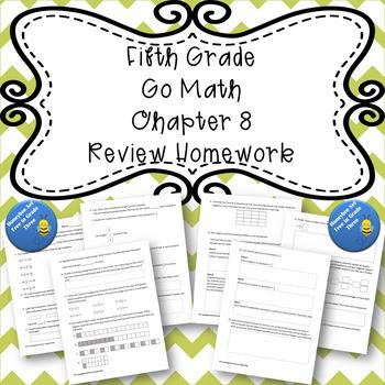 Fifth Grade Go Math Chapter 8 Review Homework