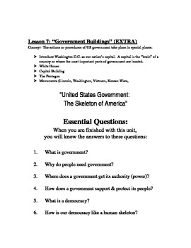 """Fifth Grade Government Made Easy!"" UPDATED EDITION"