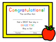 First Day of School Certificate - Fifth Grade / Grade Five