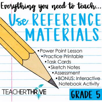 Fifth Grade Grammar Unit: Use Reference Materials