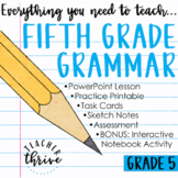 DISTANCE LEARNING Fifth Grade Grammar and Language Bundle