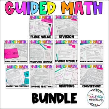 Fifth Grade Guided Math Growing Bundle