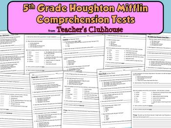 Fifth Grade HM Comprehension Tests