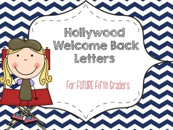 Fifth Grade HOLLYWOOD THEMED Welcome Letter