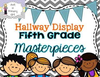 Fifth Grade Hallway Display Posters Chevron Bunting Multi Color