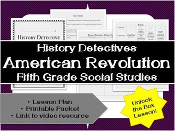 Fifth Grade History: American Revolution Unlock the Box