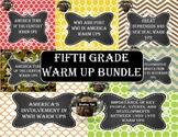 Fifth Grade History Warm Up Bundle