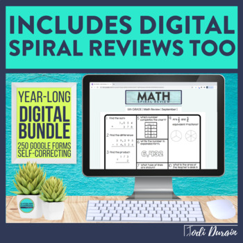 5th Grade Math Spiral Review | 5th Grade Morning Work WHOLE YEAR BUNDLE