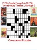 Houghton Mifflin Reading 5th Grade Vocabulary Crossword Puzzles Themes 1-6