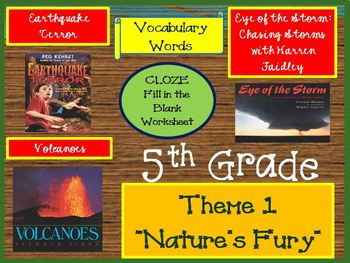 Houghton Mifflin Reading 5th Grade Theme 1 Cloze Worksheets