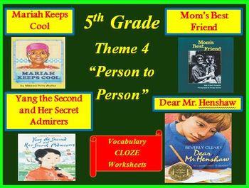 Houghton Mifflin Reading 5th Grade Theme 4 Cloze Worksheets