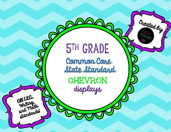 "Fifth Grade ""I Can"" Common Core Standard Chevron Displays"