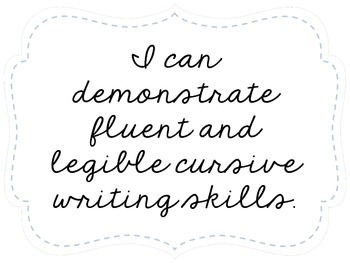 "Fifth Grade ""I Can"" Statements LAFS & Common Core Language Plain"