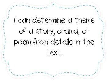 "Fifth Grade ""I Can"" Statements LAFS & Common Core Reading Plain"