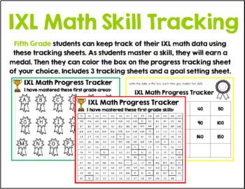 Fifth Grade IXL Tracking Bundle
