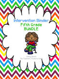 Fifth Grade Intervention Binder Bundle