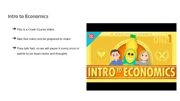 Fifth Grade Intro to Economics Power Point