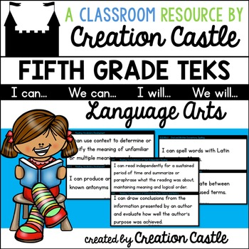 Fifth Grade Language Arts TEKS - Can and Will Standards Statements
