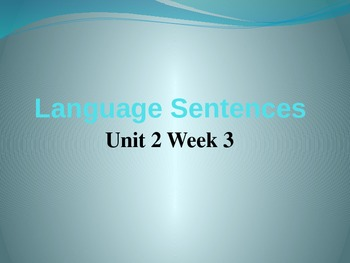 Language PowerPoint Unit 2 Week 3 Fifth Grade McGraw Hill Wonders