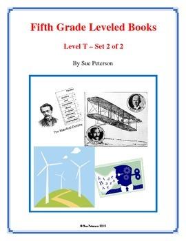 Fifth Grade Leveled Books:  Level T - Set 2