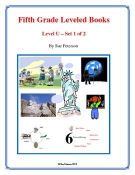 Fifth Grade Leveled Books:  Level U - Set 1