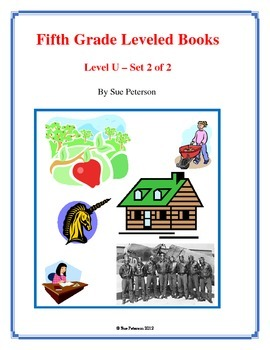 Fifth Grade Leveled Books:  Level U - Set 2