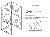 Fifth Grade Long Division with Remainders Game: Math Tarsia Puzzle