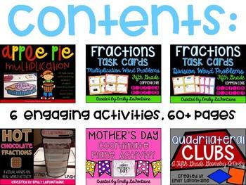 Fifth Grade Math Activities BUNDLE (Common Core)