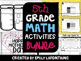 Fifth Grade Math Activities BUNDLE (Common Core)