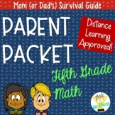 Fifth Grade Math Activities Parent Packet Distance Learning