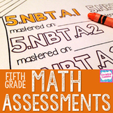 5th Grade Math Assessments | Distance Learning | Common Core