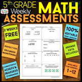 5th Grade Math Assessments | 2 Weeks FREE