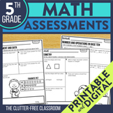 Math Assessments for 5th Grade | Progress Monitoring for t
