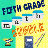 *Fifth Grade Math Bundle of Activities and Games
